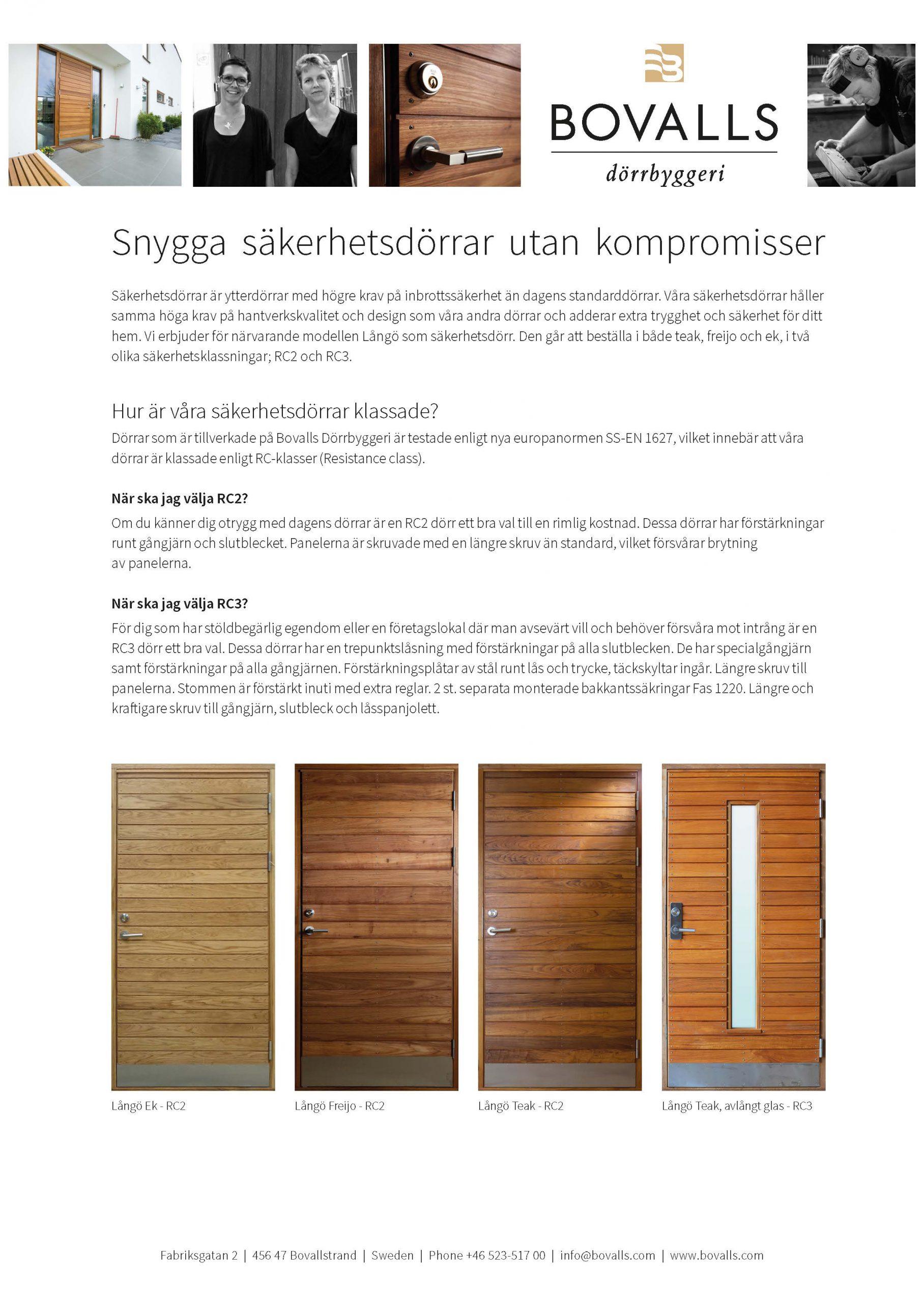 Säkerhetsdörrar - infoblad_2019_Sida_1