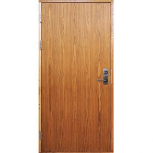 Inside of exterior door that opens inwards.