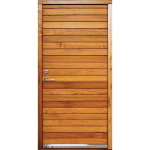 Wooden door that opens inwards
